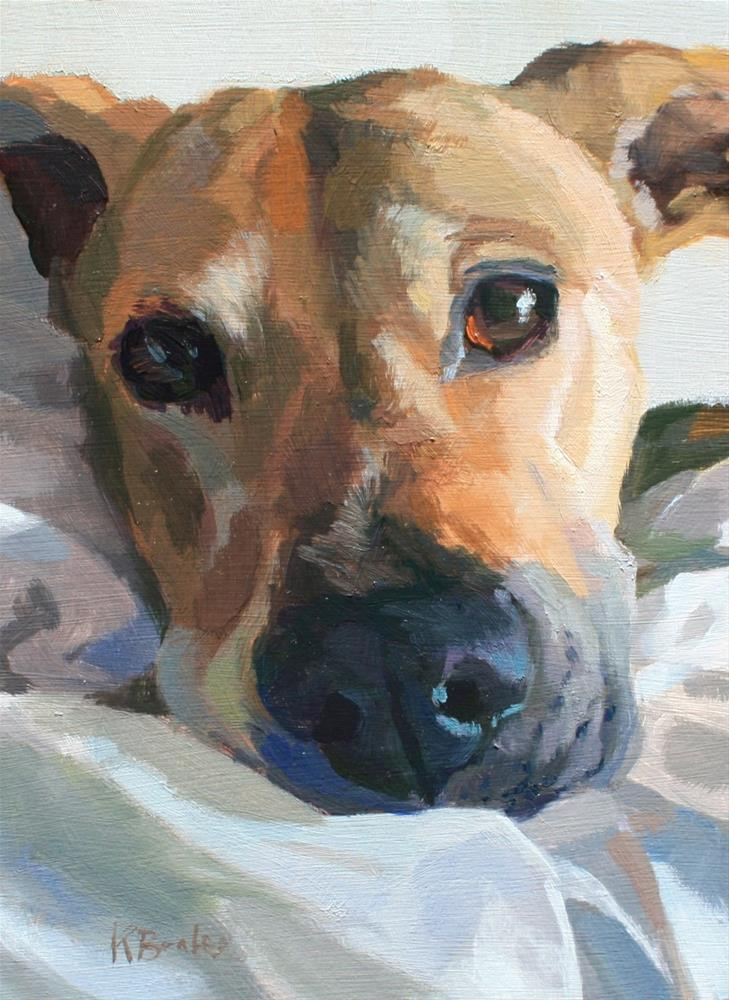 """Jean's Pup"" original fine art by Kaethe Bealer"