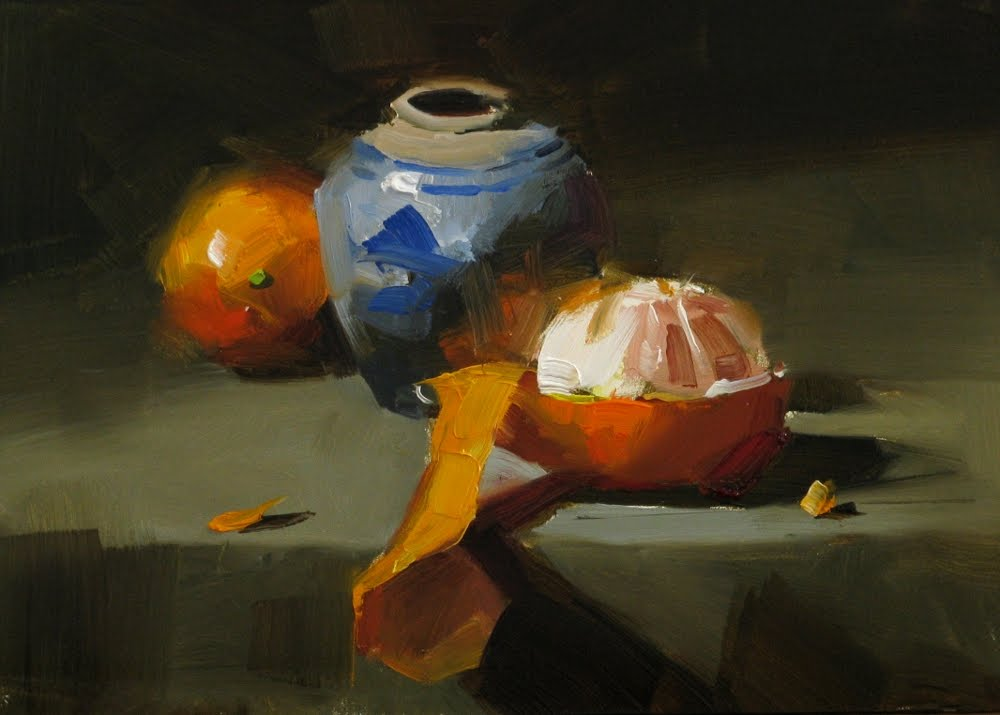 """""""""""Discover the orange"""" original fine art by Qiang Huang"""