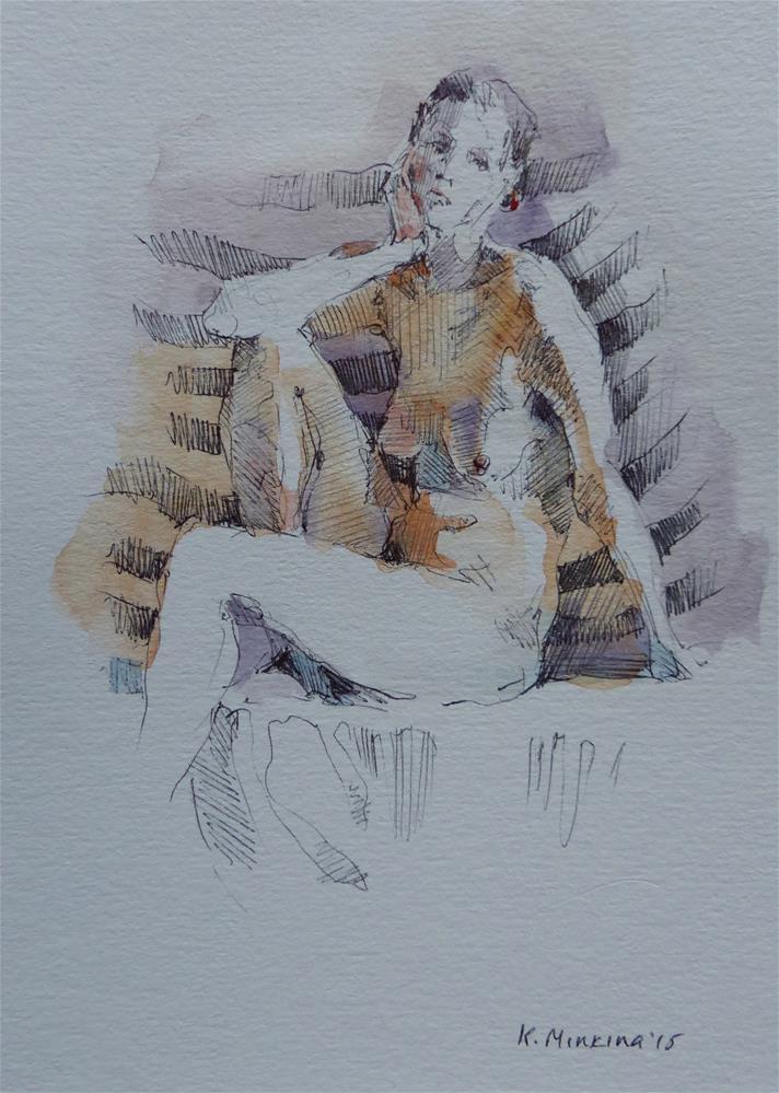 """sketchbook#2"" original fine art by Katya Minkina"
