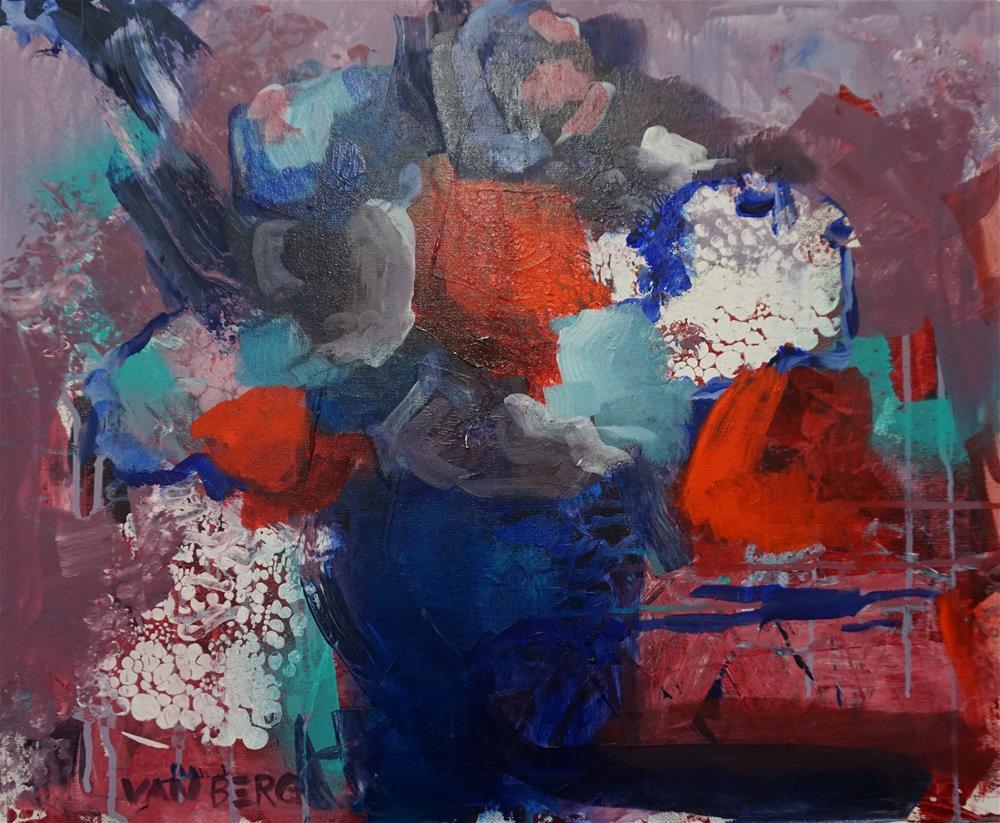 """Flower Pops"" original fine art by Catherine Van Berg"