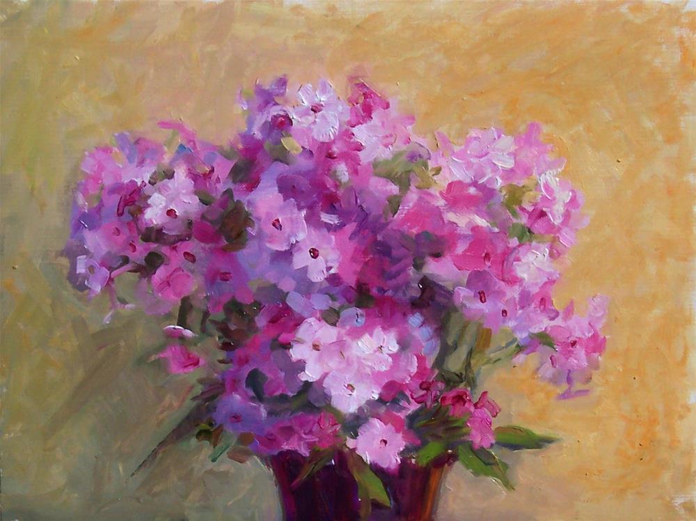 """Garden Phlox,still life,oil on canvas pad,9x12,price$200"" original fine art by Joy Olney"