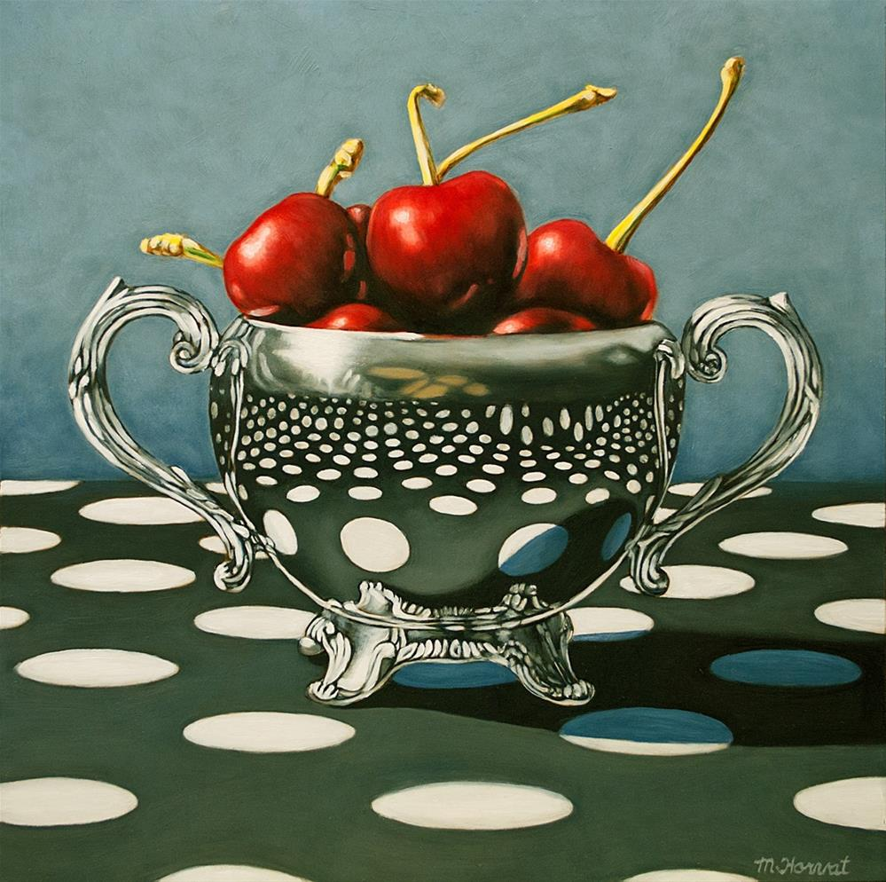 """""""Polka Dot Cherries"""" original fine art by Margaret Horvat"""