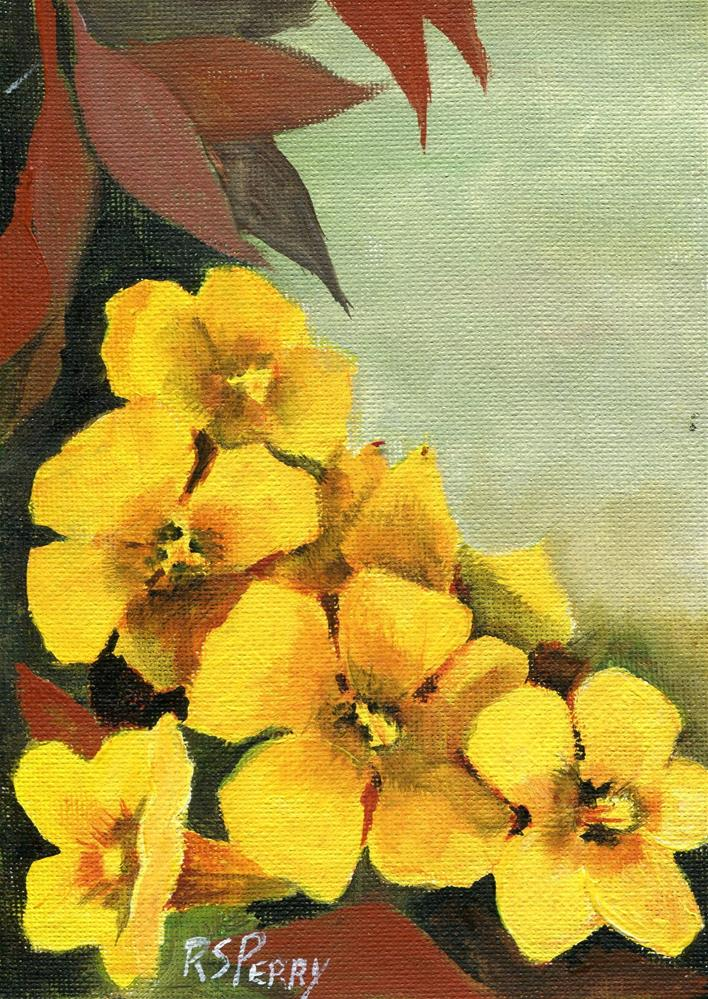 """""""Yellow jessamine number 2"""" original fine art by R. S. Perry"""