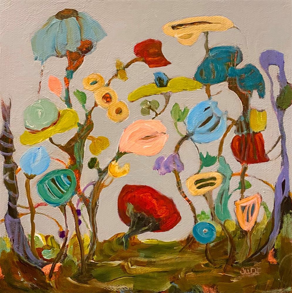 """""""IN THE GARDEN"""" original fine art by Judie Mulkey"""