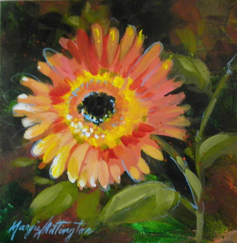 """Gerber Daisy"" original fine art by Margie Whittington"