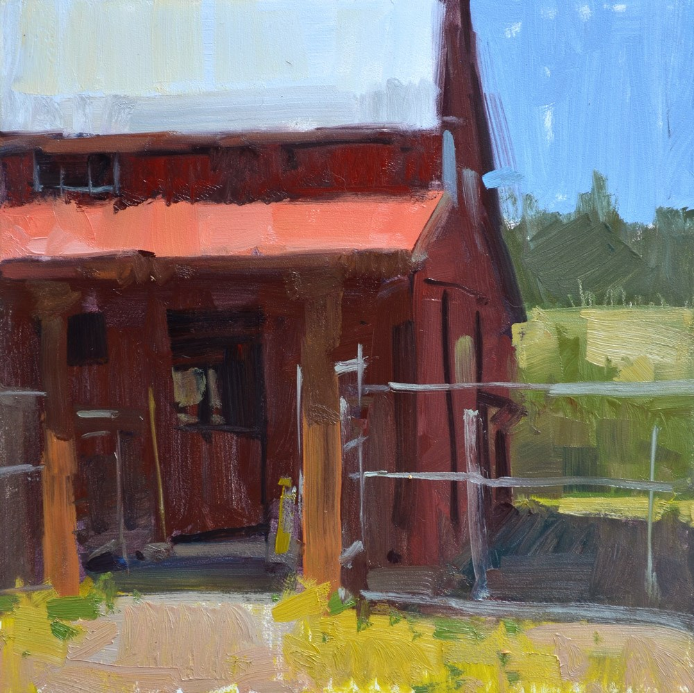 """A Loose Barn"" original fine art by Carol Marine"