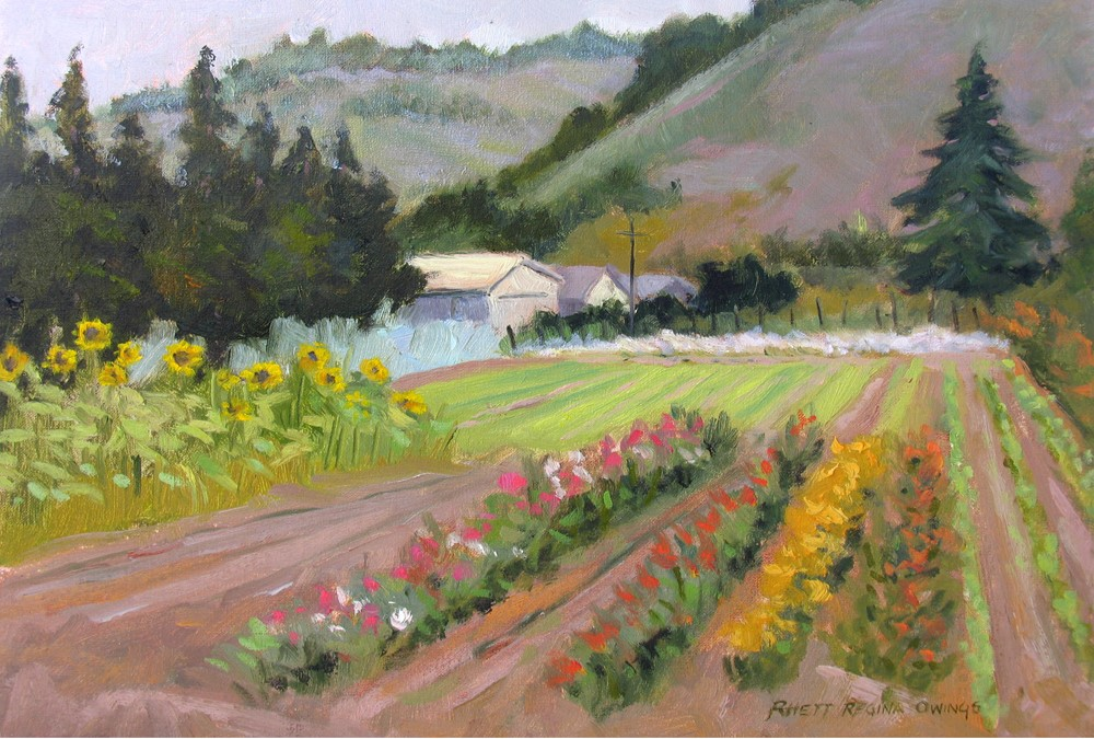 """Earthbound Flower Garden"" original fine art by Rhett Regina Owings"