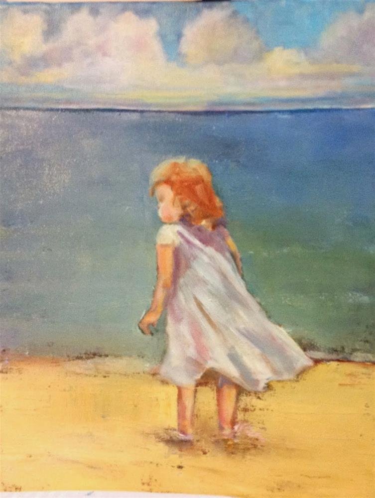 """""""Water, wind, wonder"""" original fine art by Maggie Flatley"""