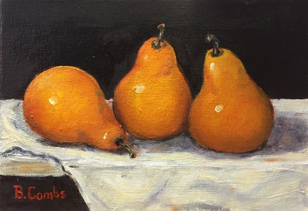 """Pears V"" original fine art by Bebe Combs"