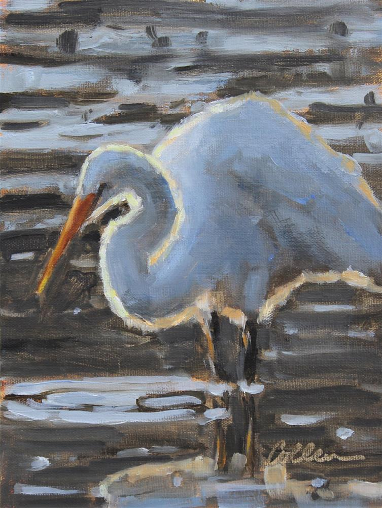 """""""In Shallow Water"""" original fine art by Colleen Parker"""