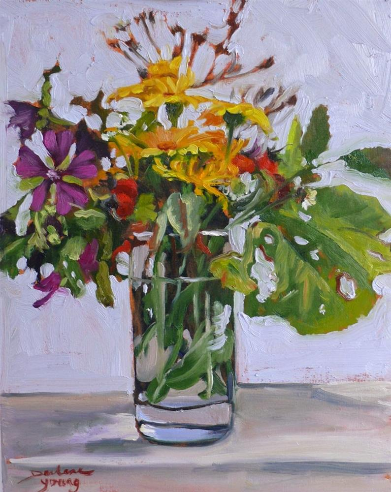 """767 Autumn Bouquet"" original fine art by Darlene Young"