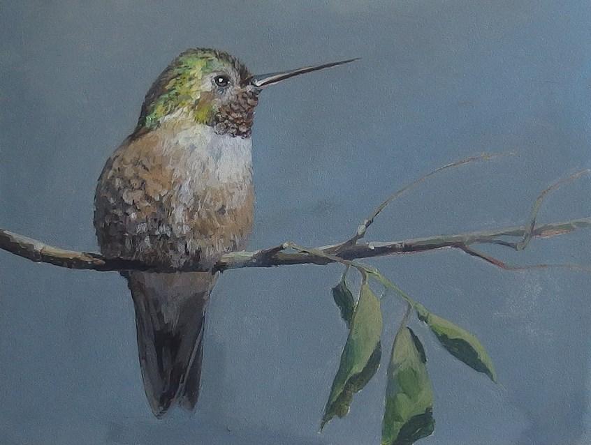 """No 828  Garden Jewel"" original fine art by Robin J Mitchell"