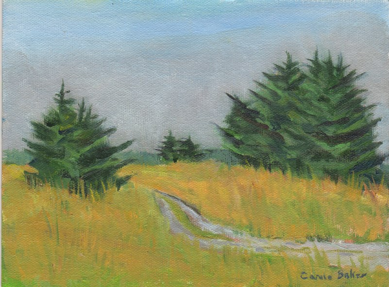 """Beach Road"" original fine art by Carole Baker"