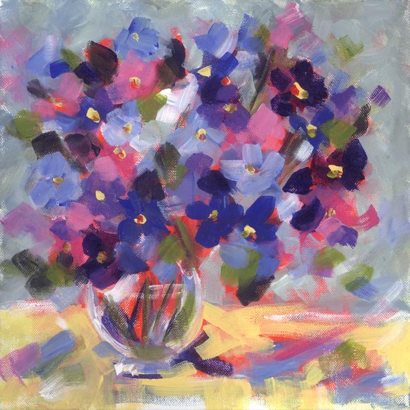 """New Blues"" original fine art by Pamela Gatens"