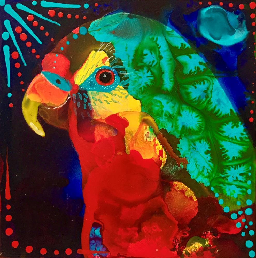 """#112 Pretty Bird"" original fine art by Silke Powers"