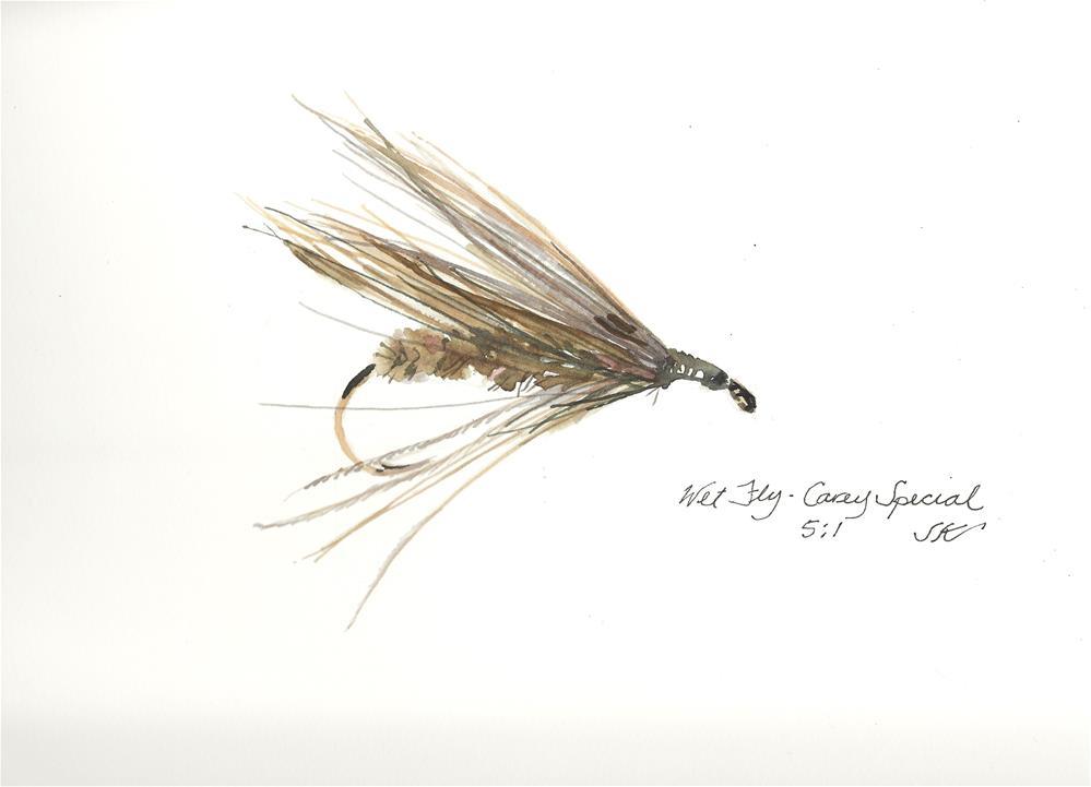 """""""Trout Fly - Carey Special"""" original fine art by Jean Krueger"""