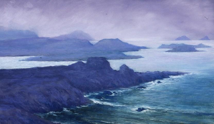 """Looking Out Toward the Skelligs"" original fine art by Joe Fitzgerald"