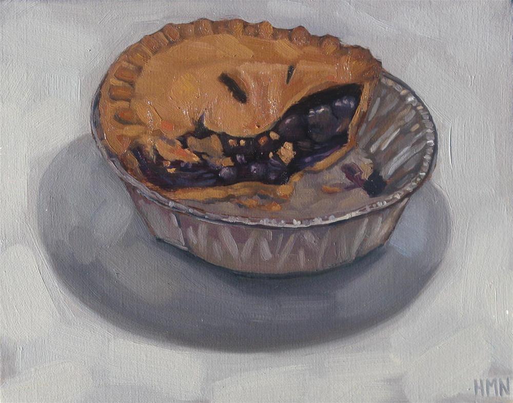 """Blueberry Pie"" original fine art by Heather Nibert"