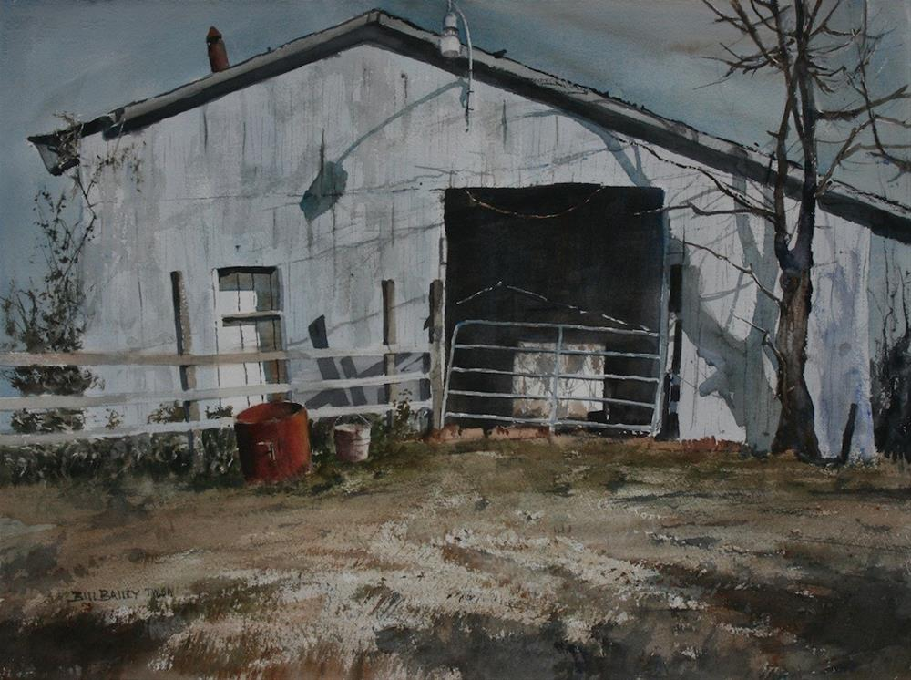 """Ruby nell's horse barn"" original fine art by bill Bailey"