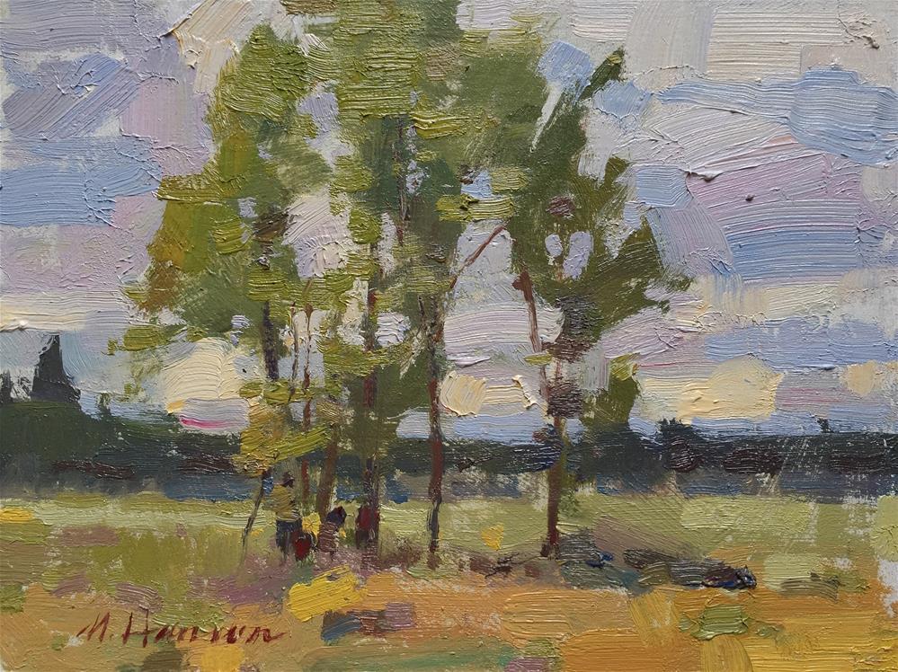 """""""Afternoon Treestand"""" original fine art by Marc Hanson"""