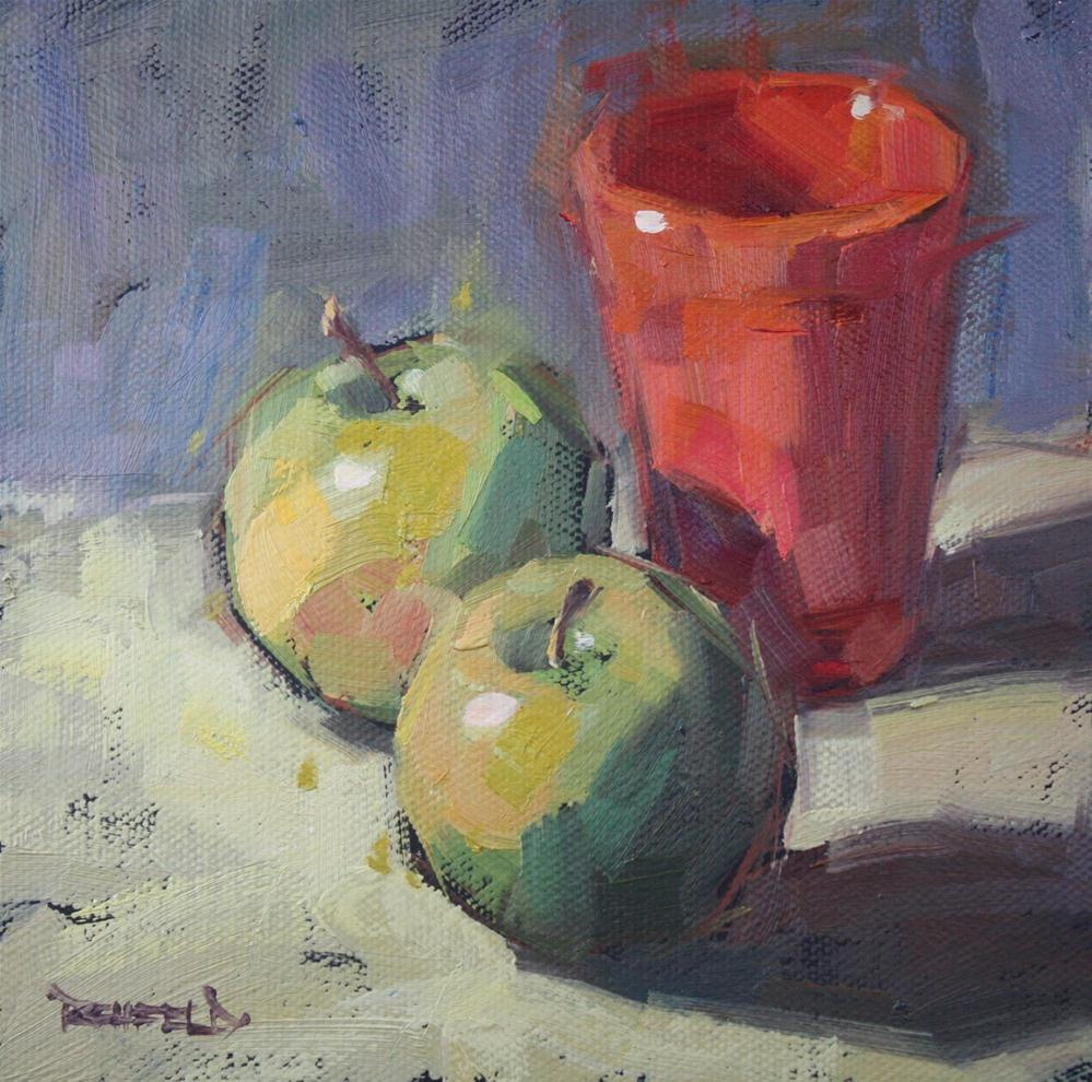 """The Little Green Apples"" original fine art by Cathleen Rehfeld"