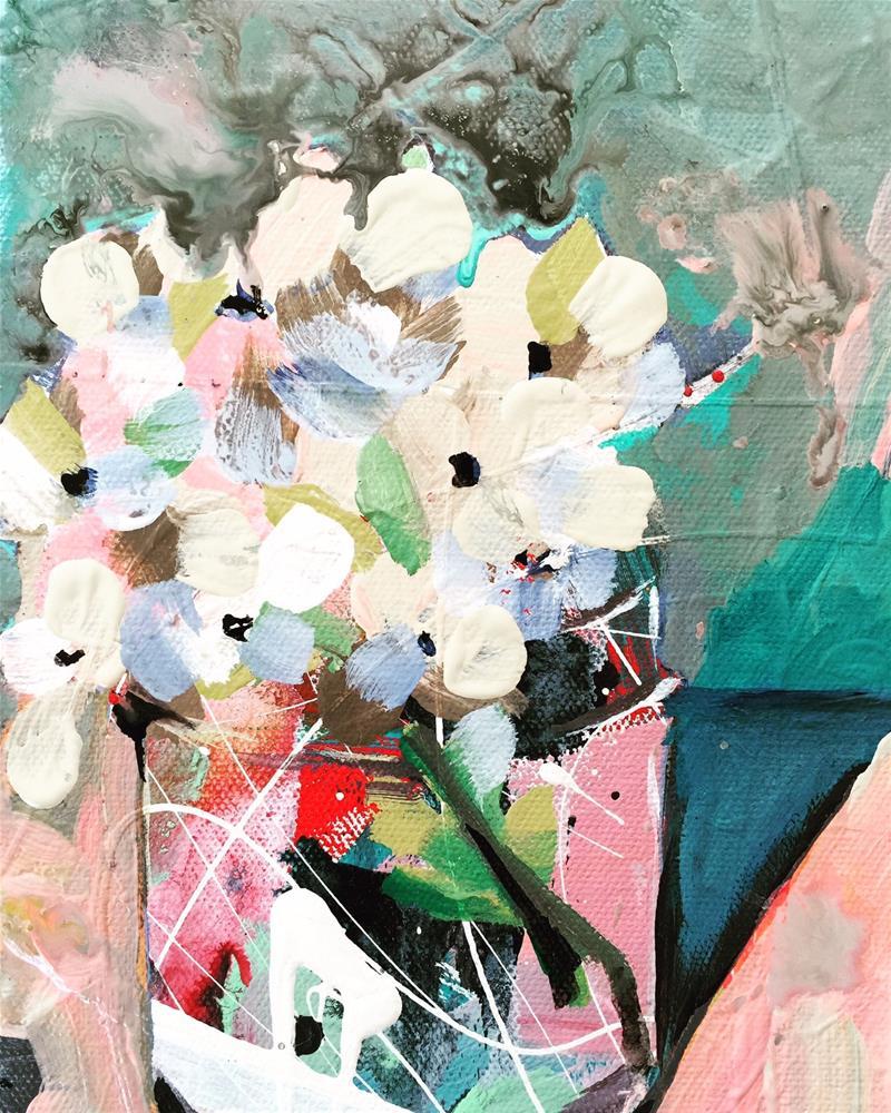 """""""Hydrangeas_OCT082015"""" original fine art by Jenny Doh"""
