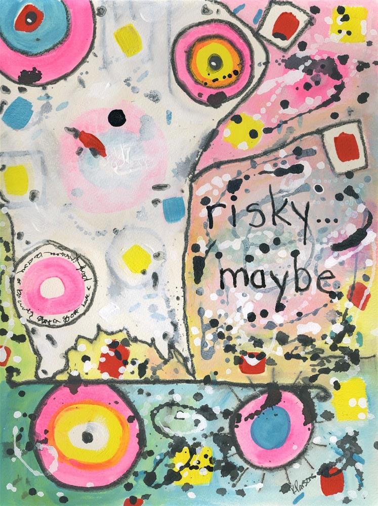 """""""risky...maybe"""" original fine art by Kali Parsons"""