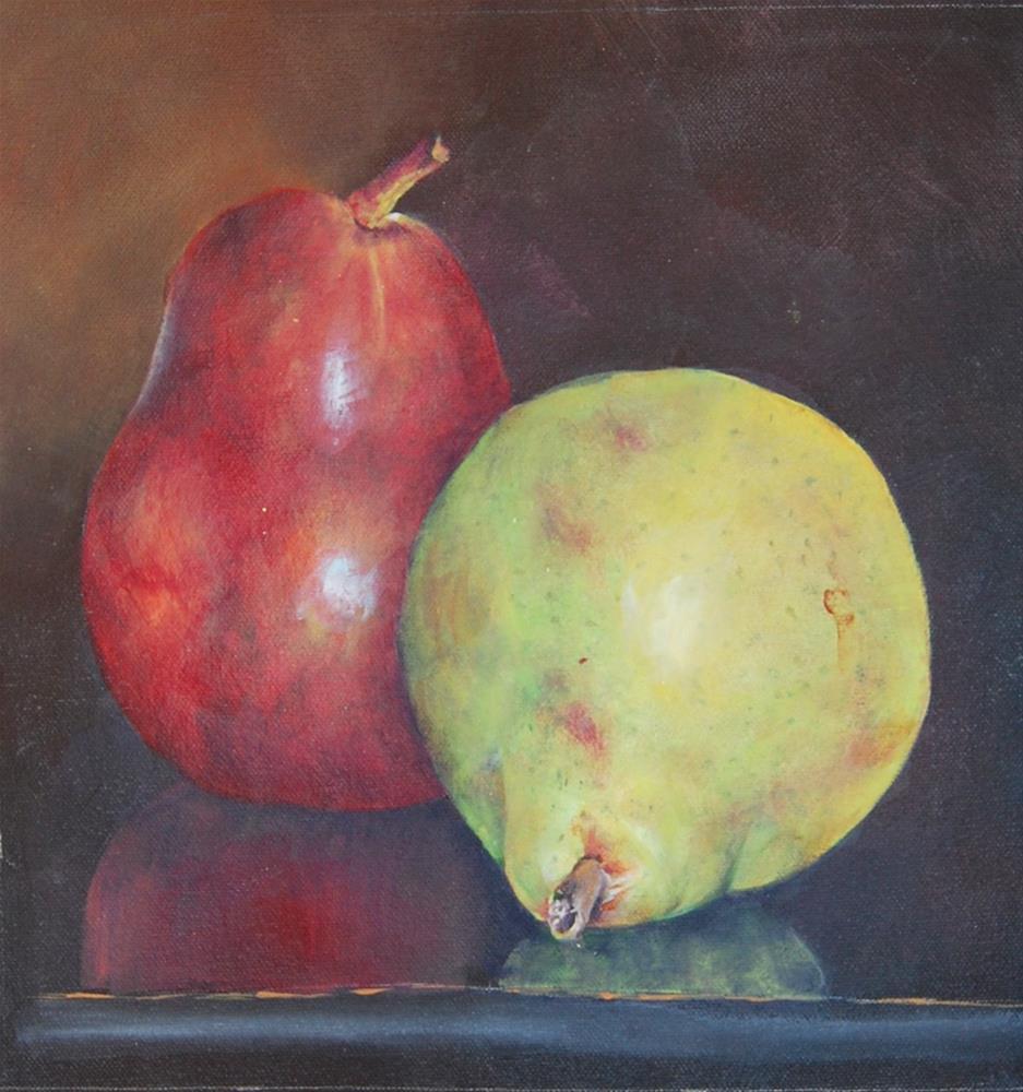 """""""A Pair of Pears"""" original fine art by Maureen Baker"""