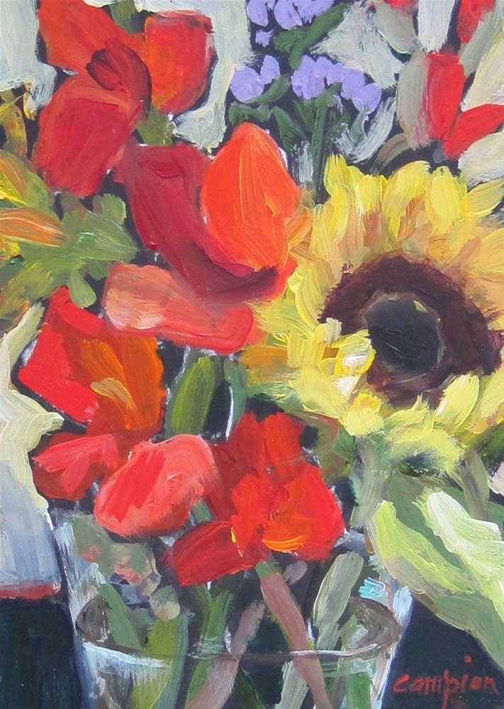 """105. Market Bouquet"" original fine art by Diane Campion"