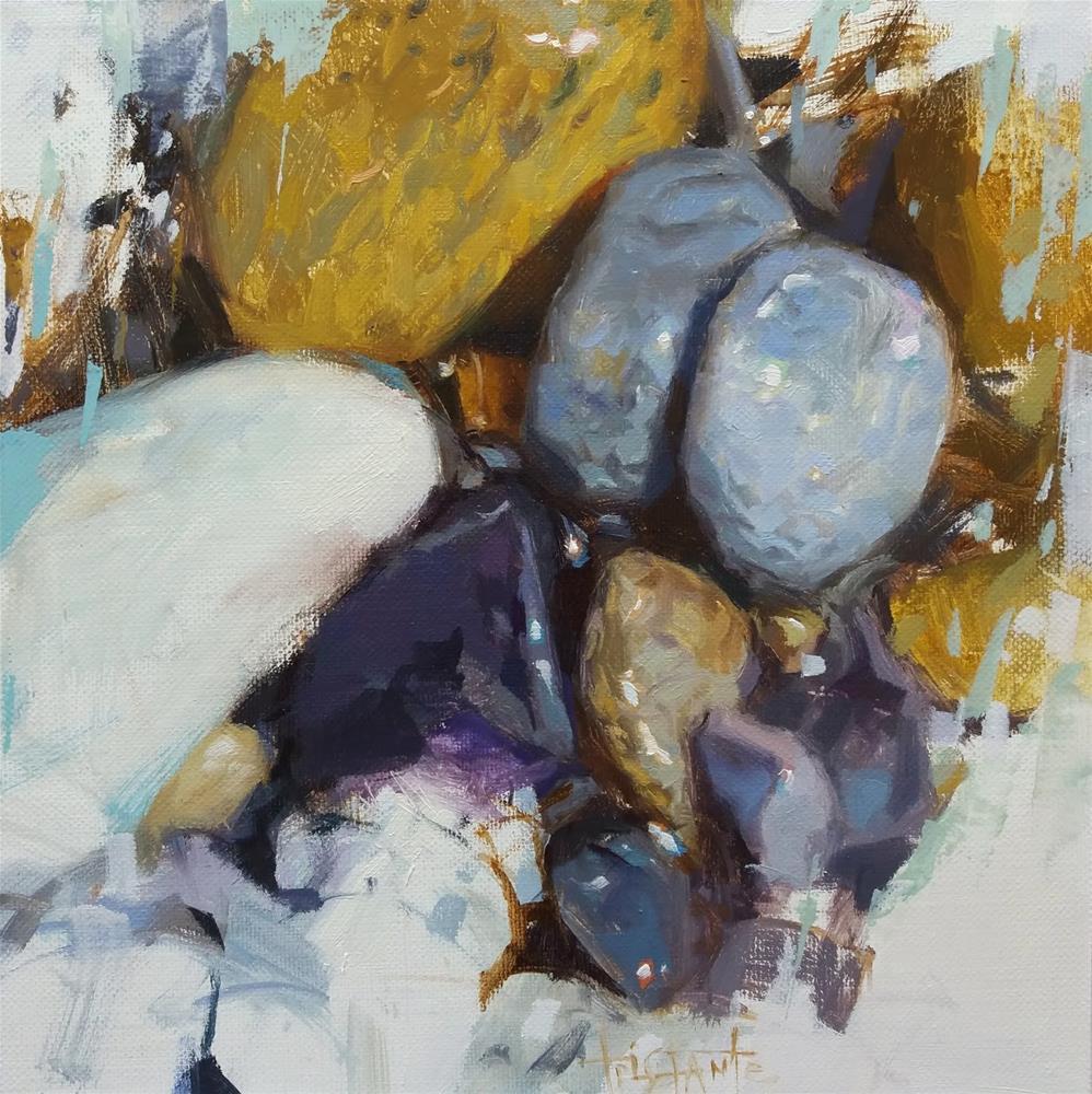 """""""Pebbles composition"""" original fine art by Víctor Tristante"""