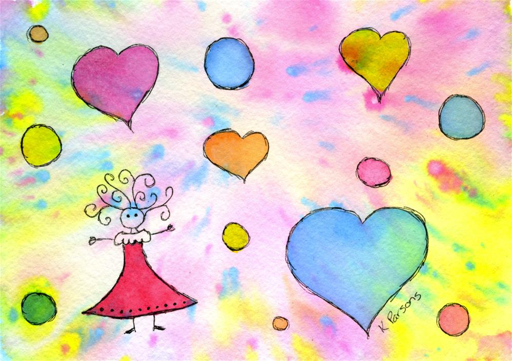 """""""Celebration of Life and Love"""" original fine art by Kali Parsons"""