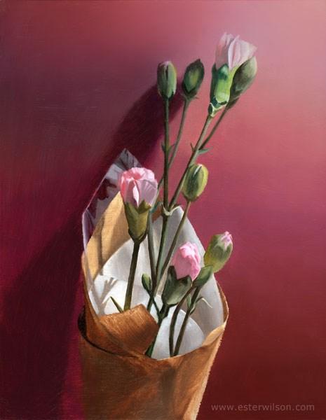 """Market Flowers"" original fine art by Ester Wilson"