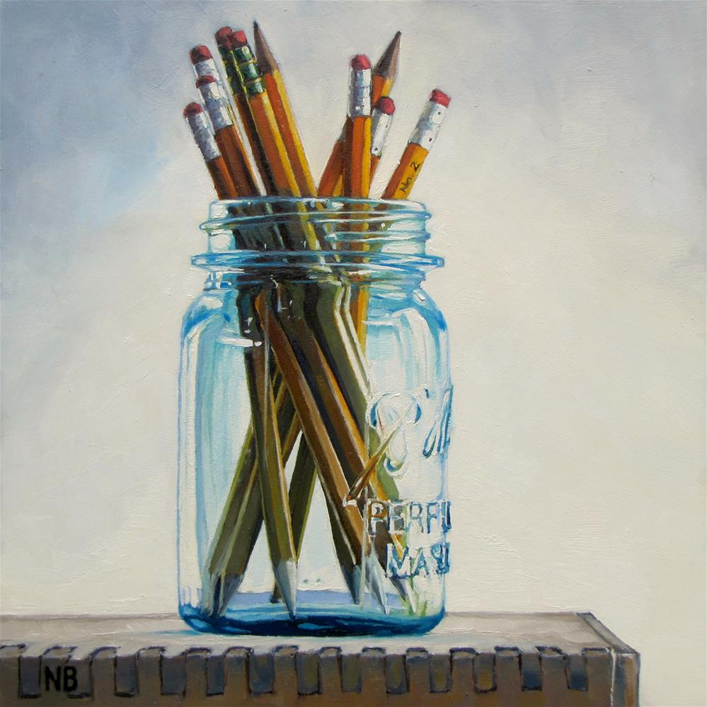 """Pencil Jar"" original fine art by Nora Bergman"