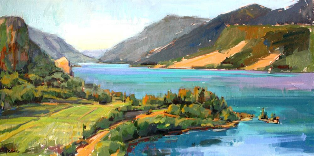 """The Columbia River Gorge"" original fine art by Cathleen Rehfeld"