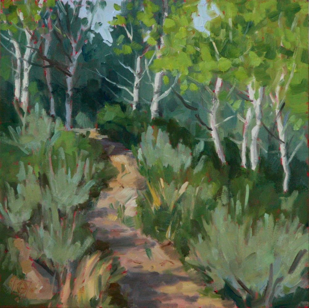 """Among The Aspens"" original fine art by Carol Granger"