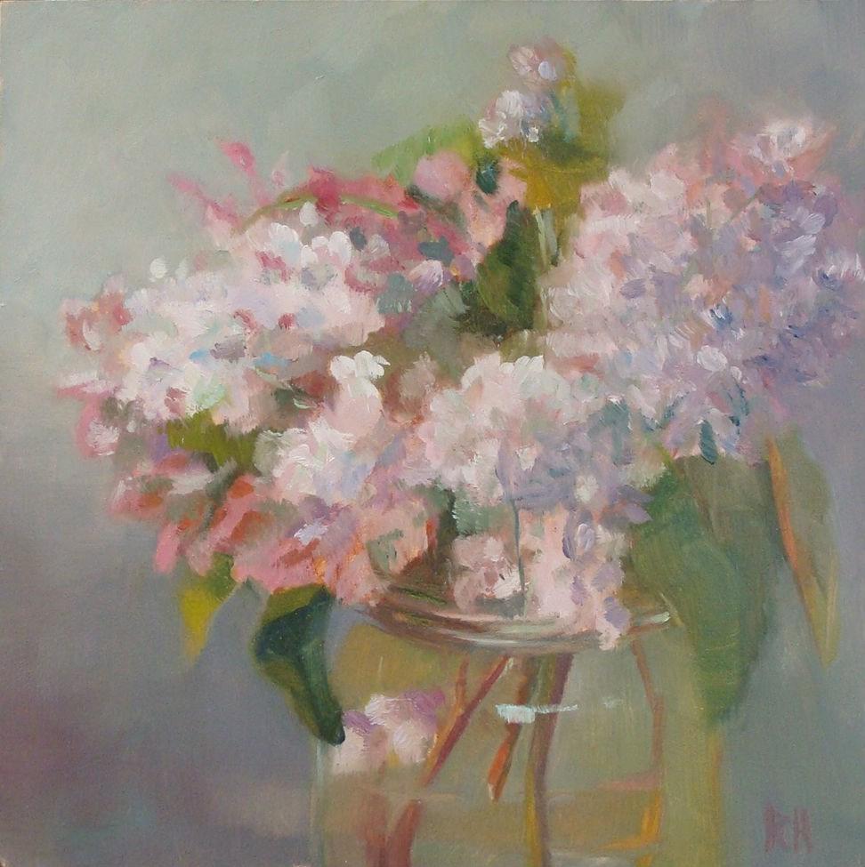 """Backyard lilacs"" original fine art by Rebecca Helton"