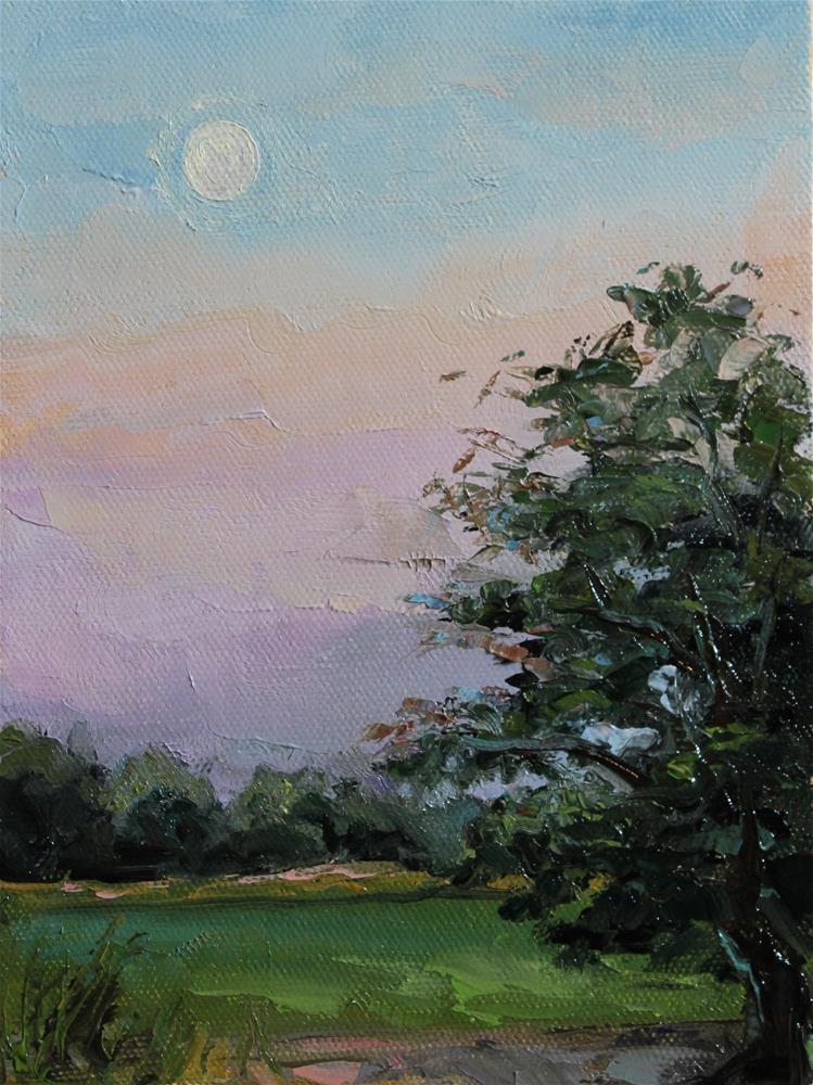 """""""peaceful evening"""" original fine art by H.F. Wallen"""