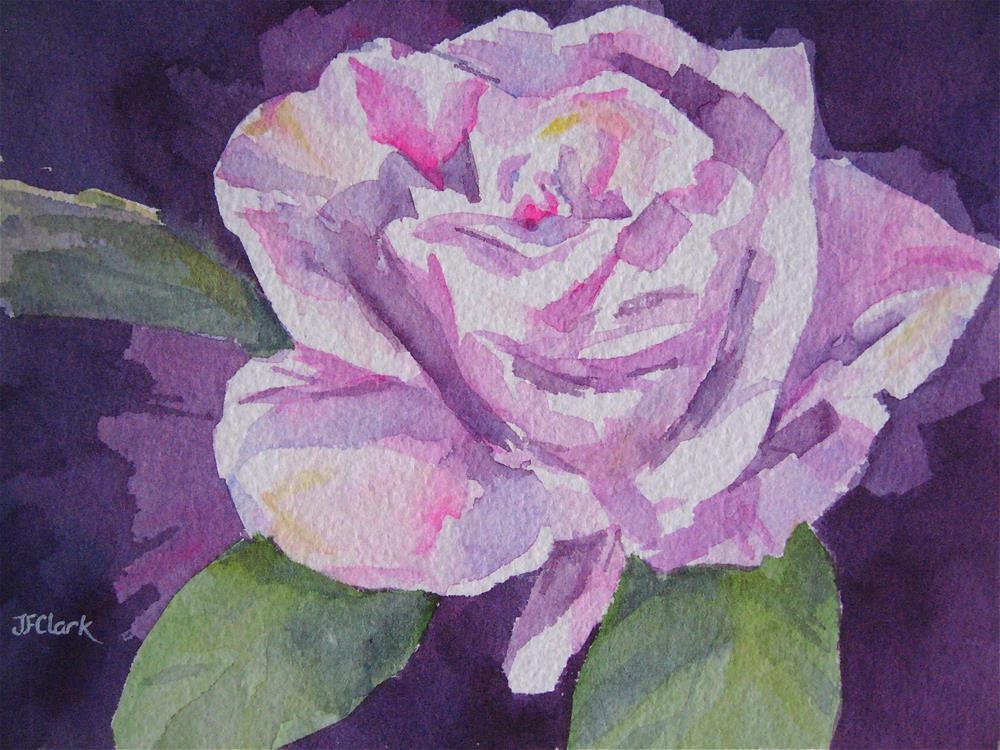 """Cabernet Rose"" original fine art by Judith Freeman Clark"