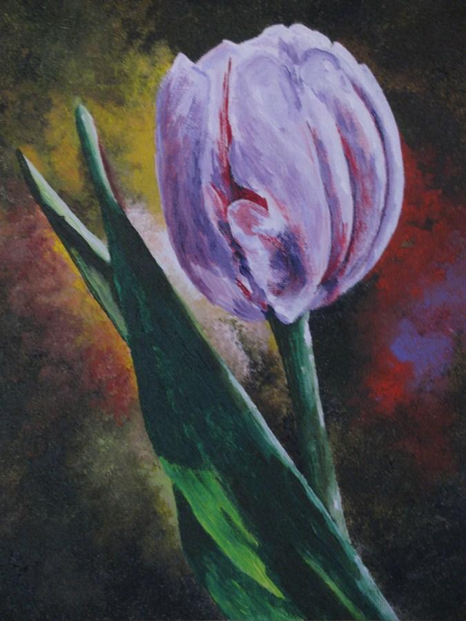"""Tulip"" original fine art by Nan Johnson"