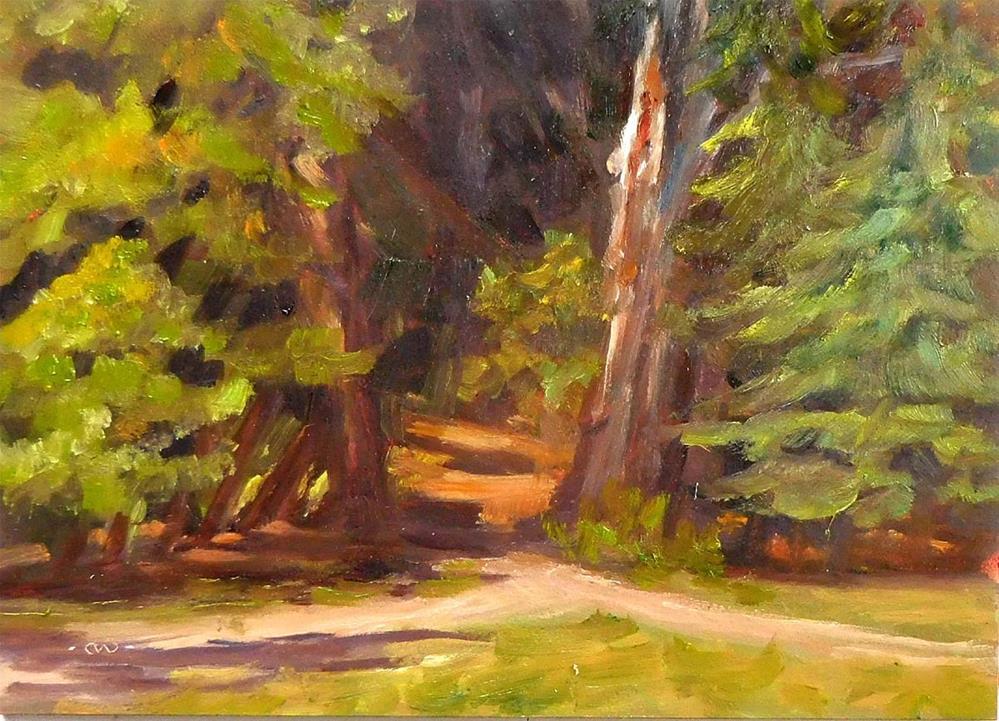 """Old Redwood Snag"" original fine art by Cietha Wilson"