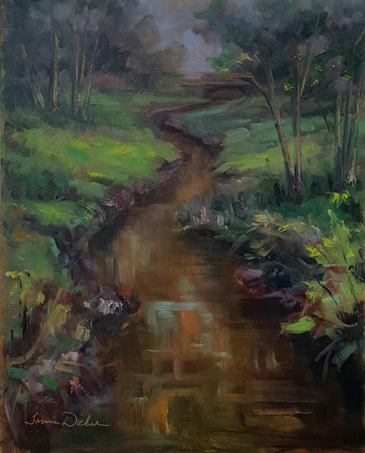 """Winding through Fairfield"" original fine art by Tammie Dickerson"