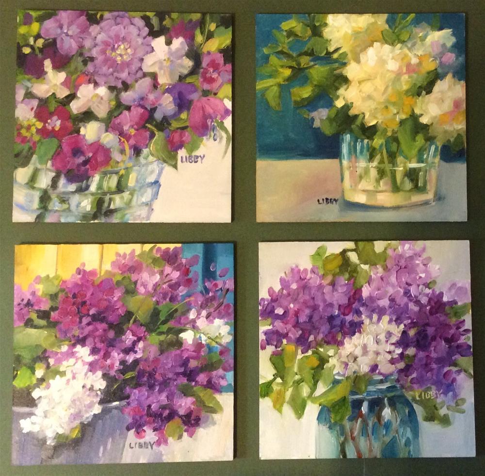"""Four x Four"" original fine art by Libby Anderson"