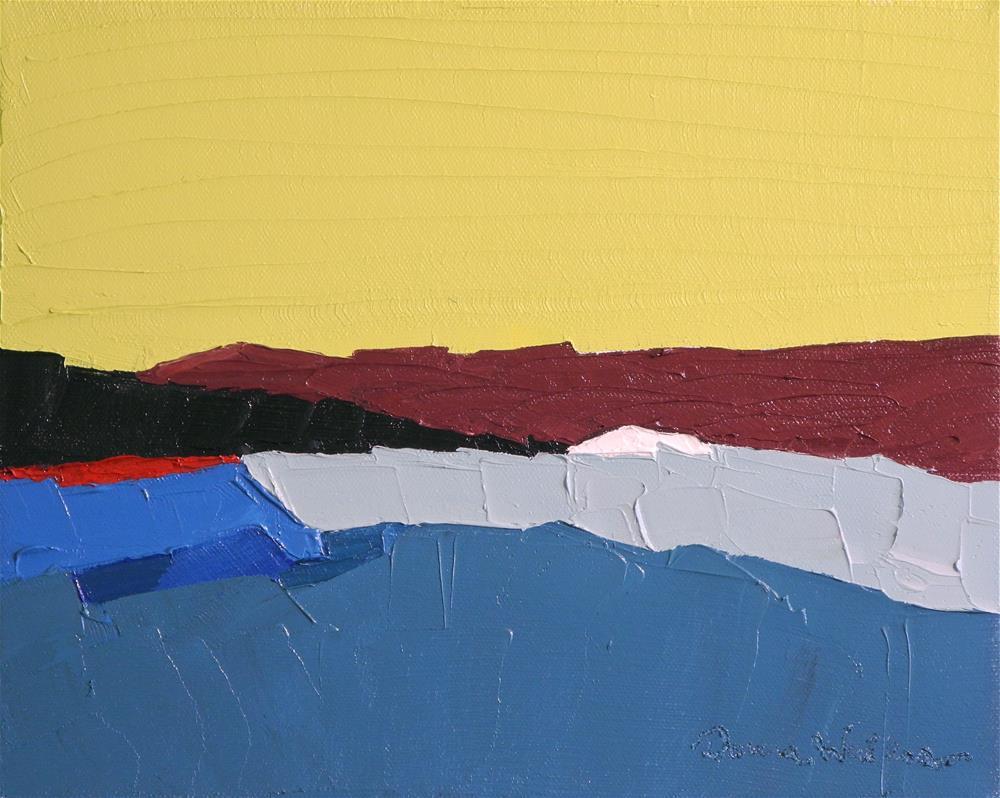 """Burgundy Land"" original fine art by Donna Walker"