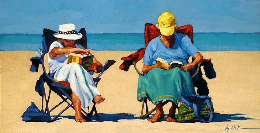 """Palmetto Dunes Book Club"" original fine art by Karin Jurick"