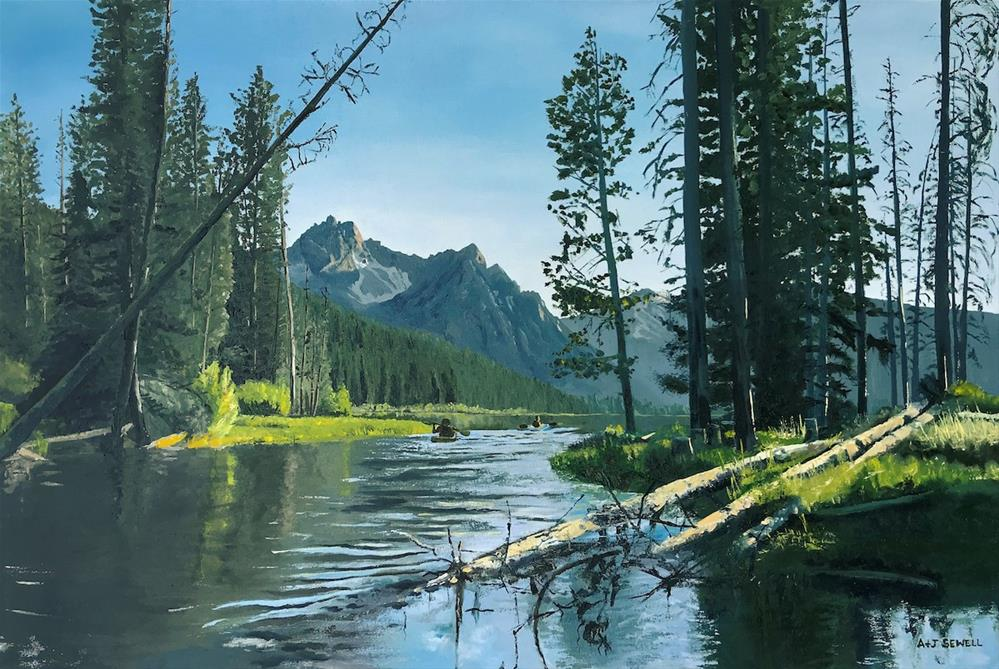 """""""Stanley Lake Outlet"""" original fine art by Andy Sewell"""