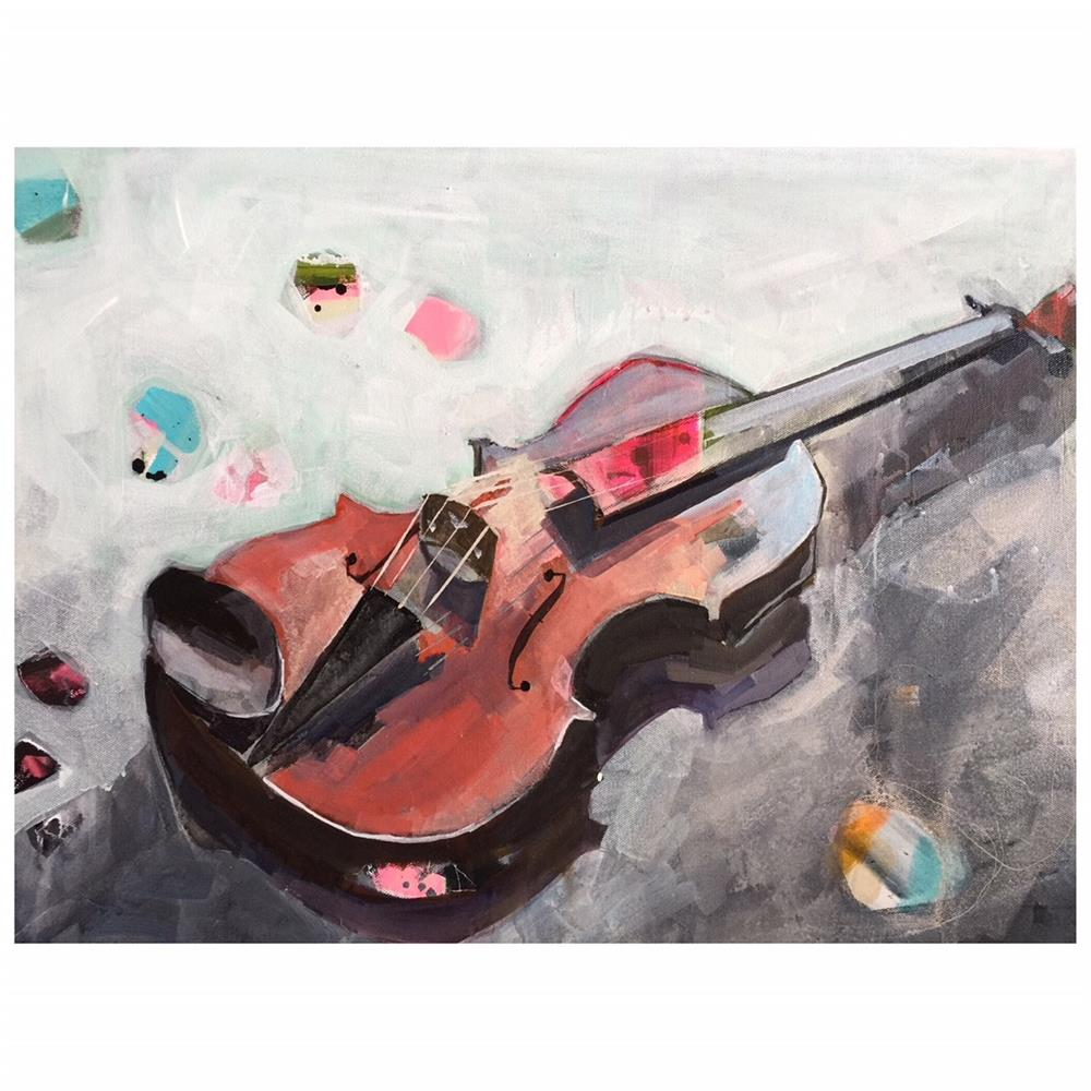 """640 Viola On My Mind"" original fine art by Jenny Doh"