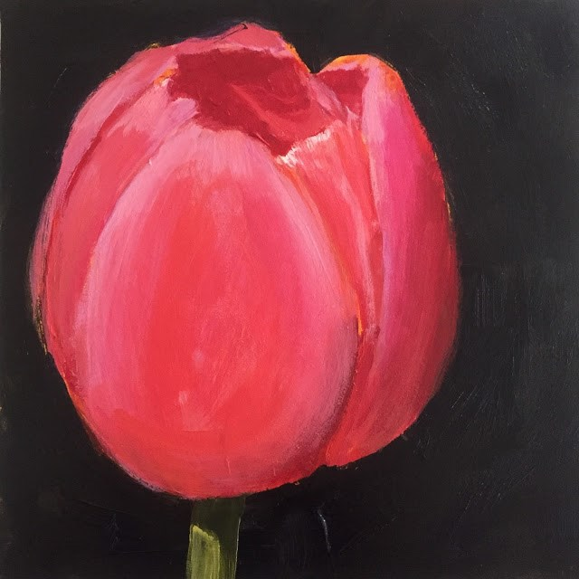 """Ruby, 6x6 inch Acrylic by Kelley MacDonald"" original fine art by Kelley MacDonald"