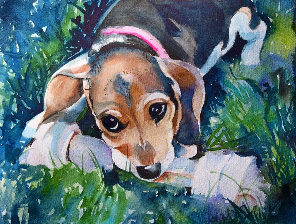 """Samantha"" original fine art by Reveille Kennedy"