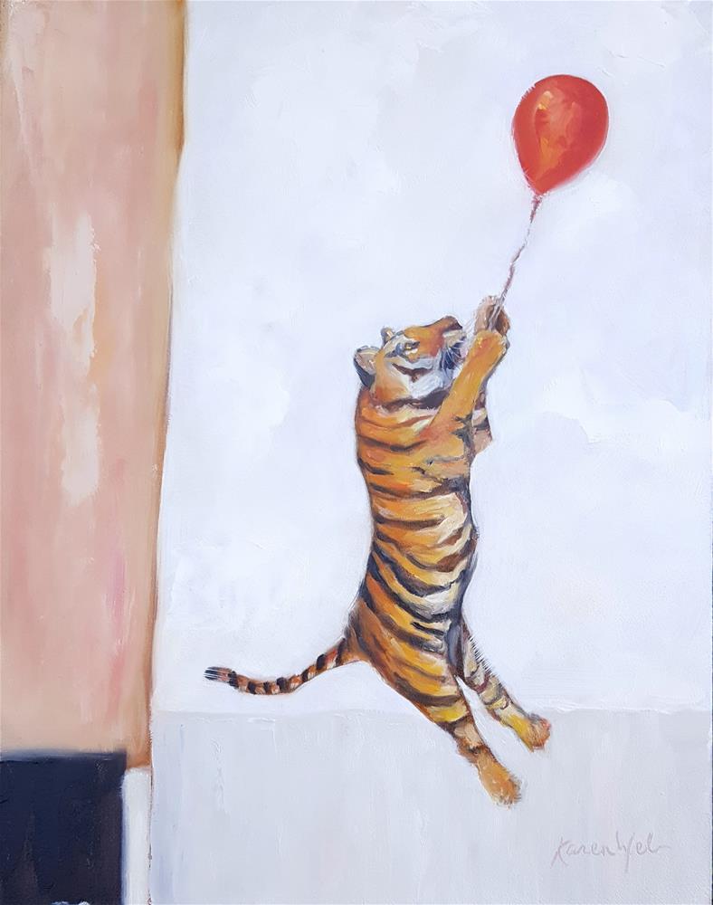 """""""Hang in There"""" original fine art by Karen Weber"""