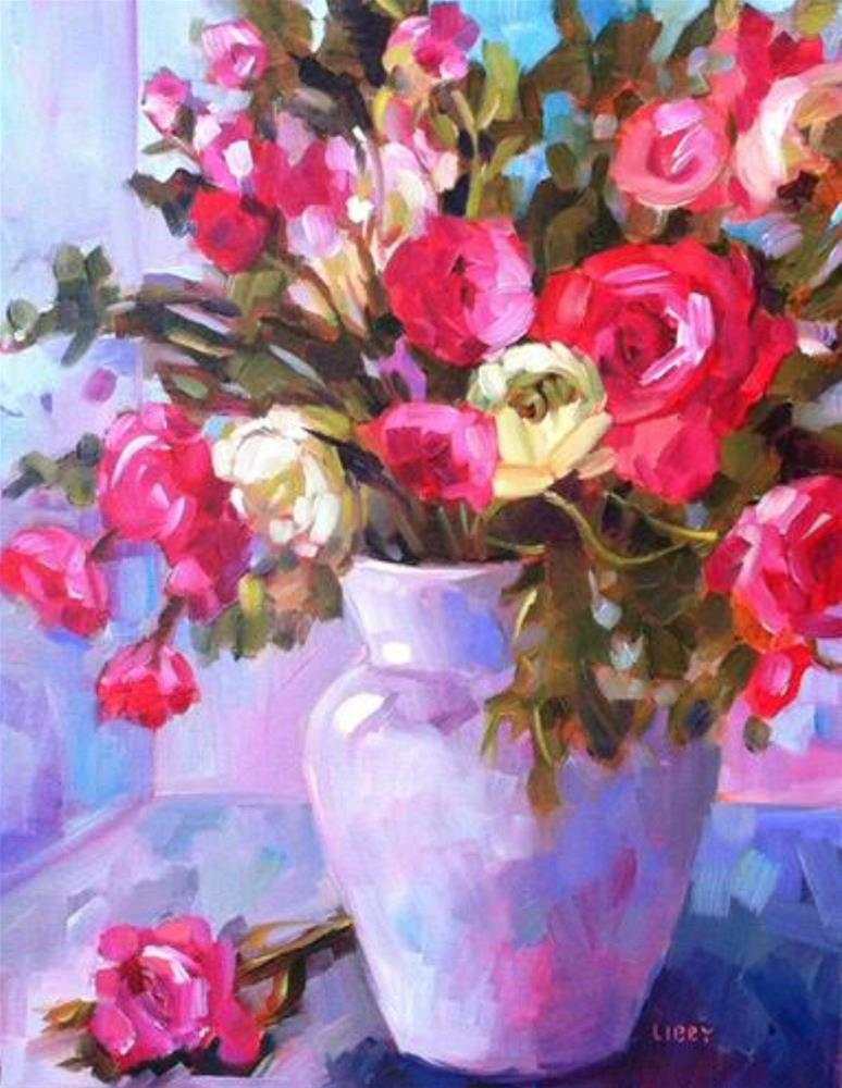 """Rose Knows"" original fine art by Libby Anderson"